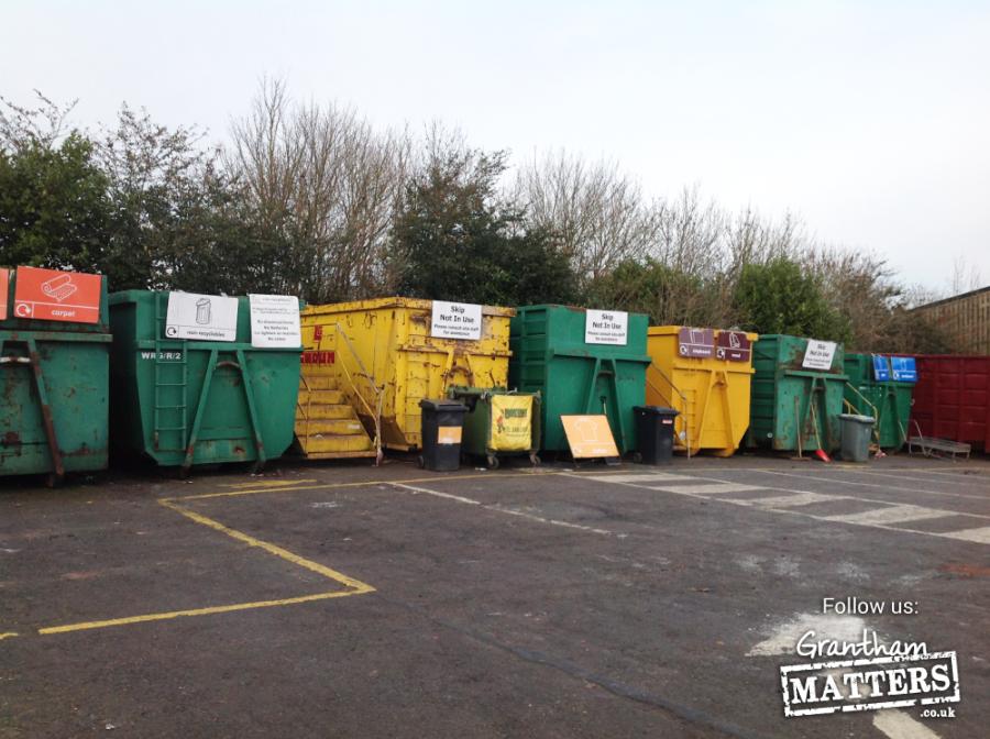Skips at Leadenham Recycling site
