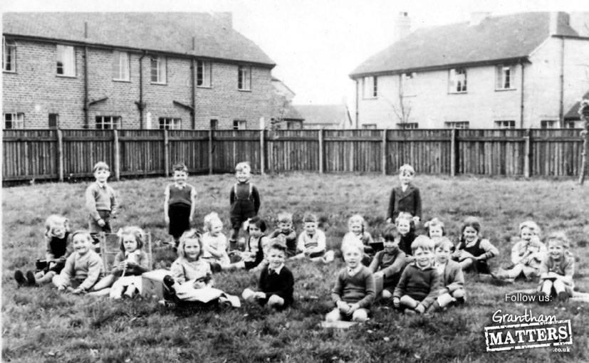 Harrowby Infants School 1953 inc John Truesday (standing), John Toon.
