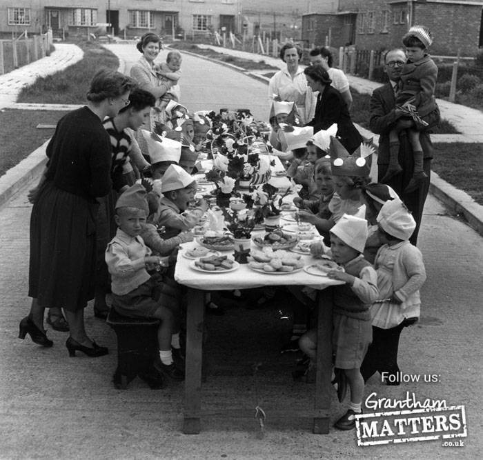 Coronation Street party at Keats Avenue.Photo: 1702-1 05.06.1953