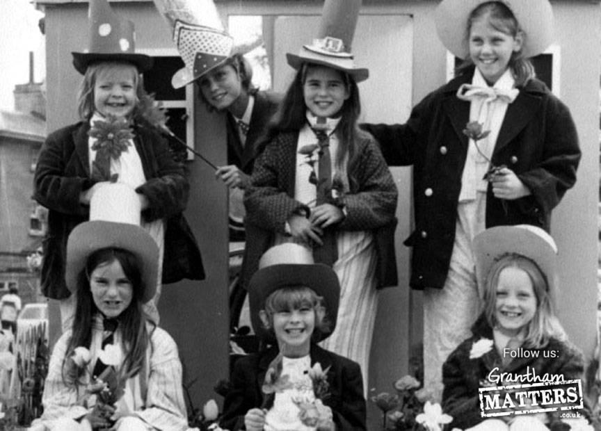 Girls in Aveling Barford's Gala parade, June 1973