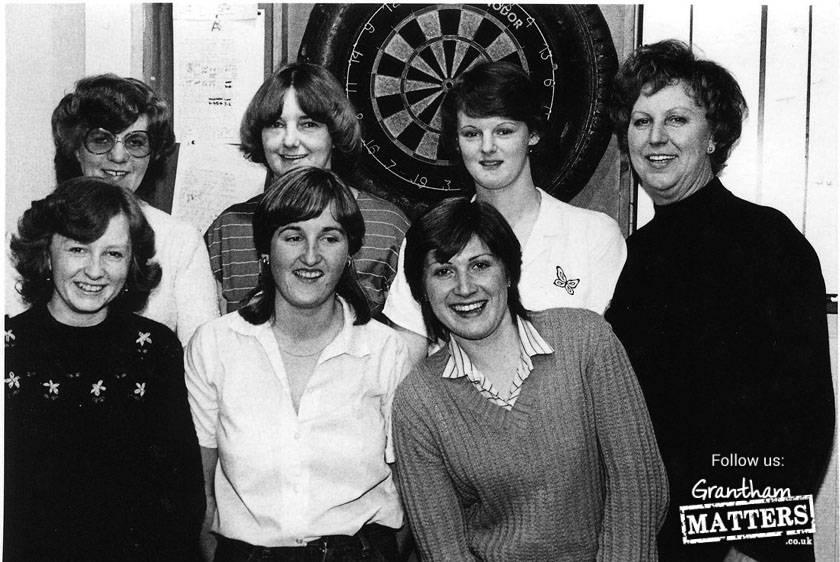 This is the Blue Horse Ladies darts team in 1983. Back: Eileen Wharton, Freda Clarke, Sue Clarke (Kidd), Joy Ibbotson: Front: Sarah Bolland (Clarke), Marie Jones,Jackie Wright.