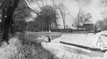 A snow scene from a century ago