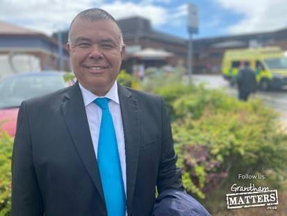Professor Jonathan Van-Tam thanks hospital staff in Lincolnshire