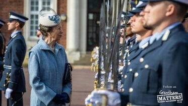 Princess Anne's visit to RAF College Cranwell graduation event