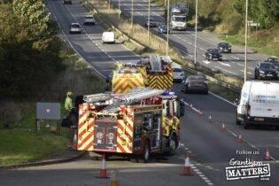 Collision on A1 near Grantham