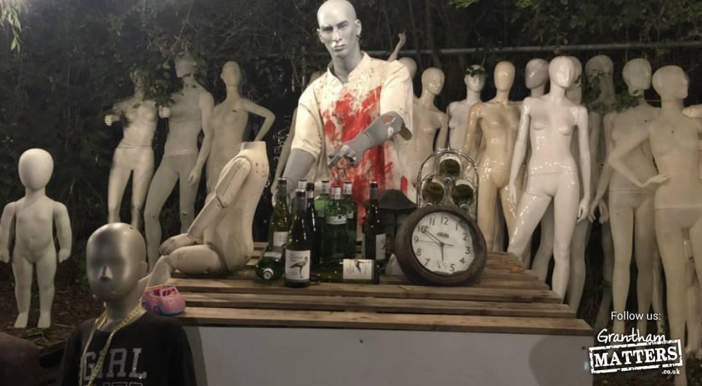 Inside creepy Halloween Safari near Grantham