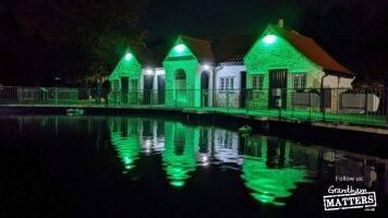 Park buildings go green to thank volunteers