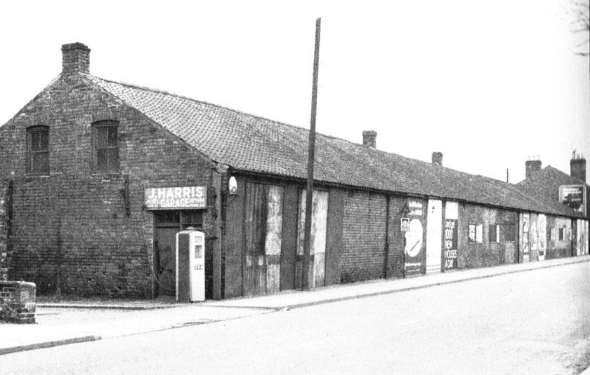 Jack Harris' transport depot & Midland Builders Merchants, near Harlaxton Road Bridge in 1963